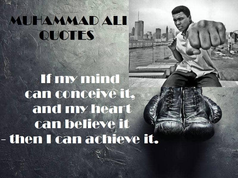 Mauhammad Ali quotes self belief