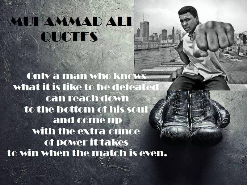Mauhammad Ali quotes winning mantra