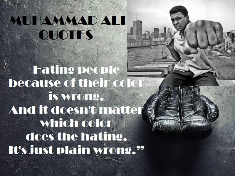 Muhammad Ali quote racism