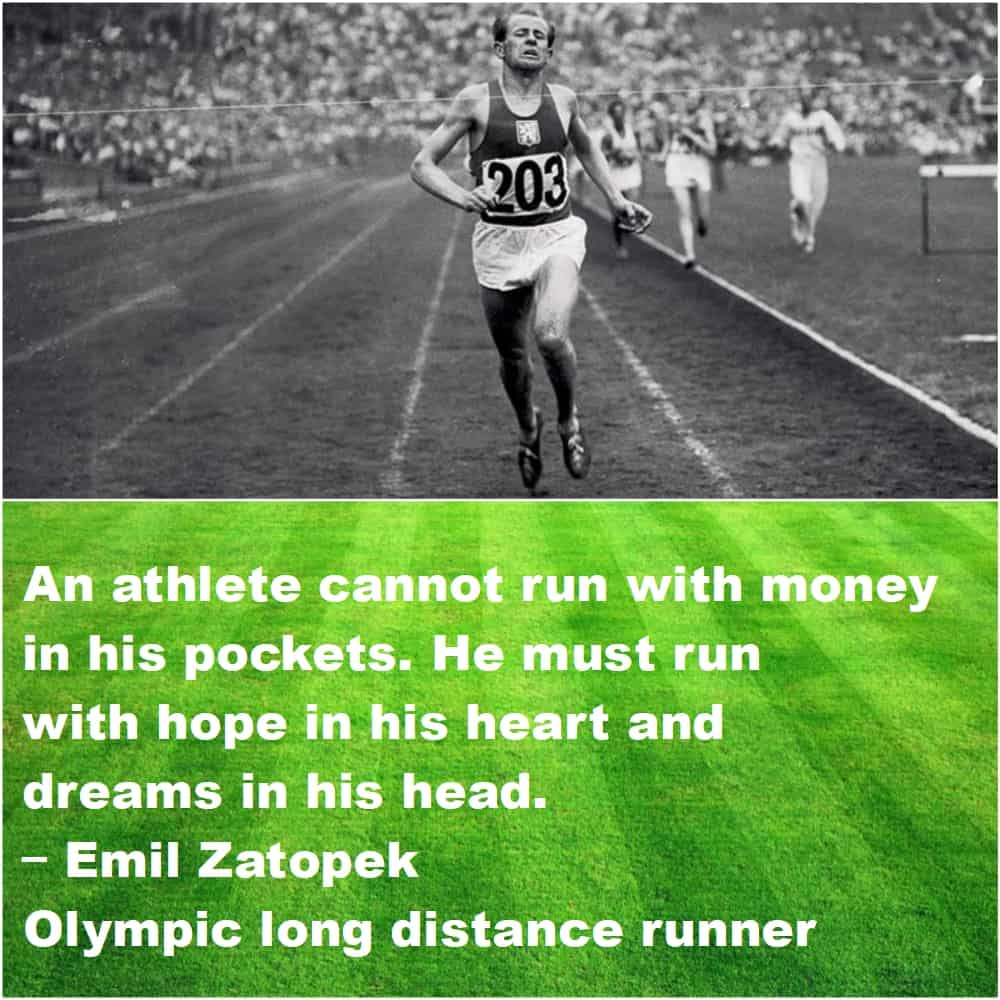 Top 10 Inspirational Sports quotes Emil Zatopek final