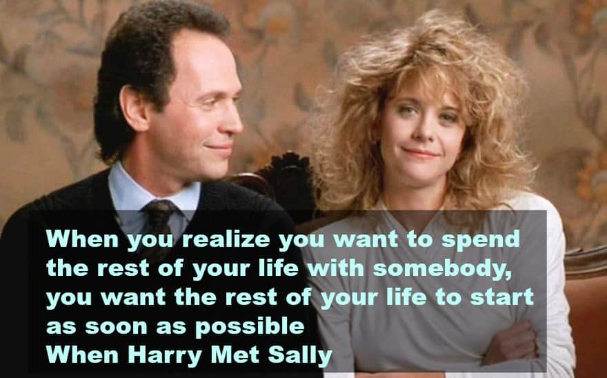 top 10 love quotes from the movies -harry met sally