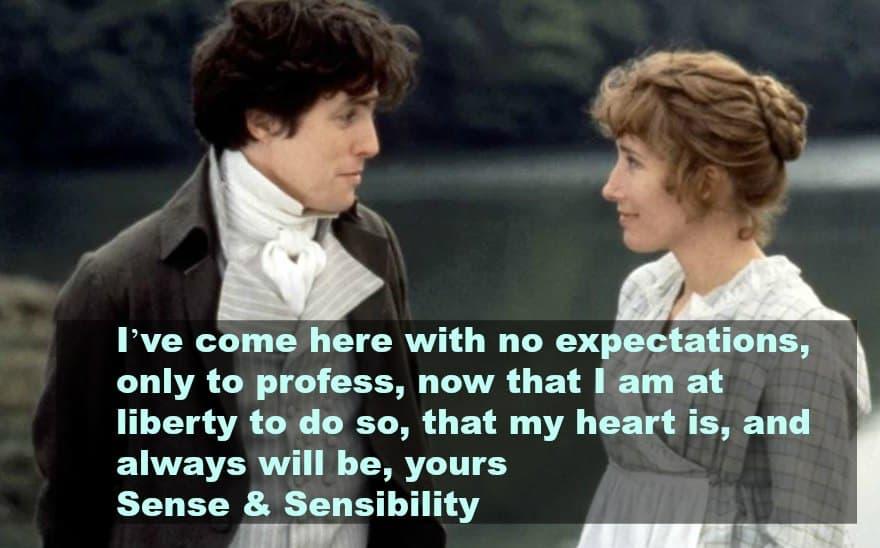 top 10 love quotes from the movies -sense and sensability