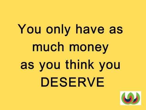 Money Affirmation deserve