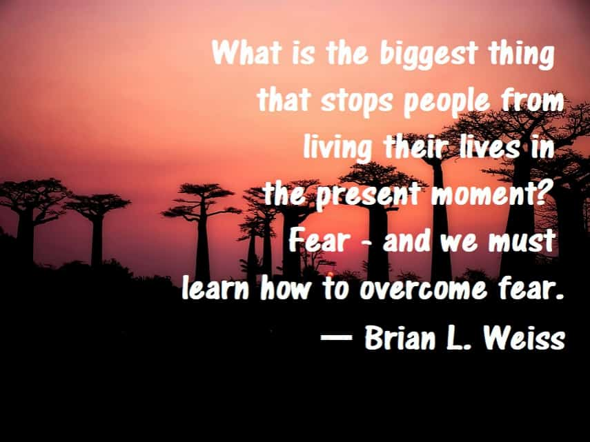 brian weiss quotes on fear and living in the present past life regression many lives many masters book