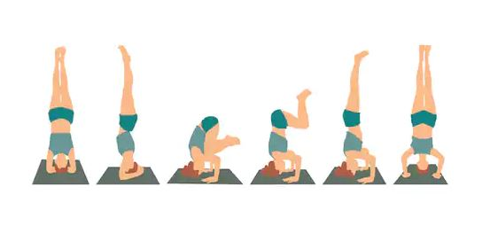 Step By Step Guide Headstand, Steps of Headstand in Yoga, Yoga Headstand, Sirsasana, Yoga, Yoga Poses, wellbeing,