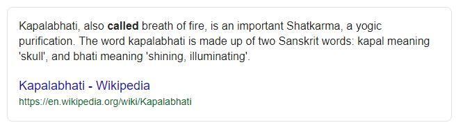 Kapalabhati Skull Shining Breathing pranayama in Yoga