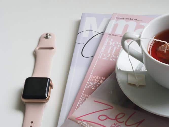 Track the food, Food Tracker app, Phone app, apple watch, tea cup, mindfullness