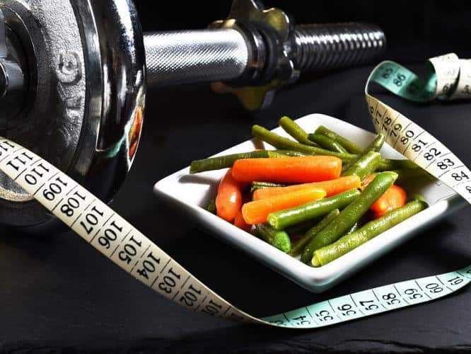 Fasting, eating healthy food, increasing metabolism for weight loss